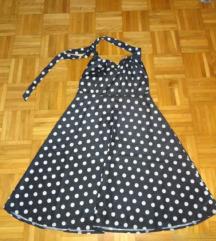 Oblekca - črna z belimi pikami