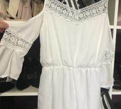 White playsuit/bel pajac