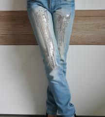 R. Jeans hlače z bleščicami, XS