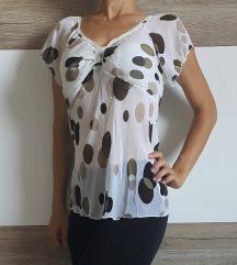 Polprosojna prijetna kratka majica, XS-S