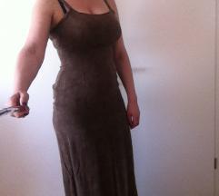 Svilena dolga obleka
