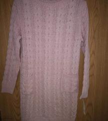 Nov roza pulover S