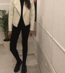 Topshop bela usnjena jakna
