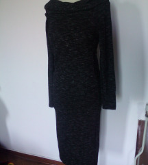maxi obleka pletenina stradivarius,M