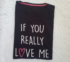 črna spalna majica s potiskom l / xl