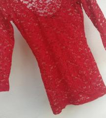 AKCIJA: 2 novi rdeči majici s čipko