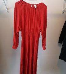 H&m dolga rdeča obleka