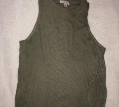 Vojasko zelena razrezana majca