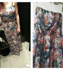Maxi cvetlična obleka