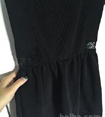 NOVA črna oblekica z see-through detajli