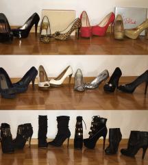 Salonarji, sandali in gležnarji s peto
