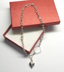 Srebrna ogrlica (srebro 925/1000) nastavljiva