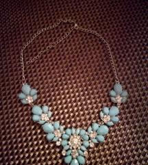 fashion verižica modra, častim ptt + darilo