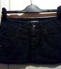 Črno jeans denim super short mini krilo