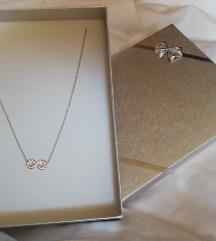 ZNIŽANO! Srebrna ogrlica Infinity