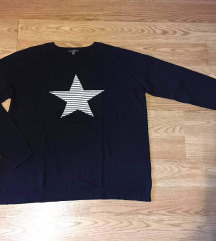 Moder pulover z zvezdico