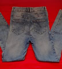 Jeans hlače visok pas M