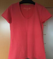 Bombažna majica barve lososa (38)