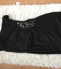 crna koktajl obleka amisu