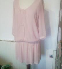 berschka nežno roza obleka,S-manjša M