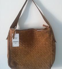 Usnjena semiš torbica