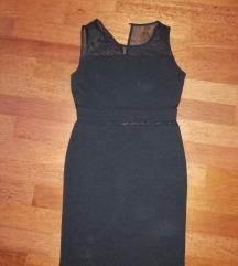 Črna mini obleka S