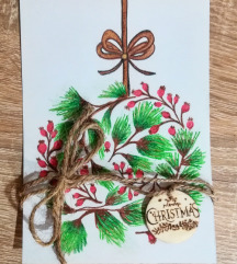Božične kartice z obeski