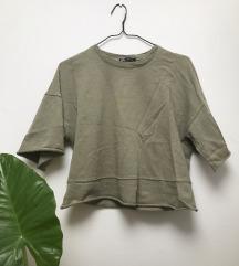 Olivna boxy majica