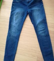 2x elastične hlače (jeans/temno modre)