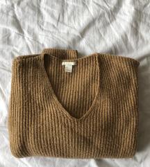 Topel rjav pulover