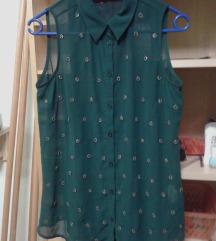 Zelena prosojna srajčka
