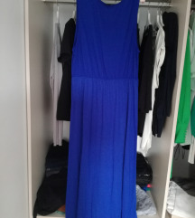 Dolga modra obleka