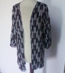 poletni črno bel kimono z resicami,Uni velikost