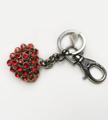 Obesek za ključe ali torbico srček