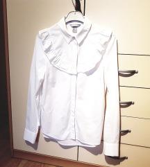 Bela srajca z volančki