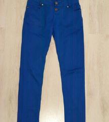 Kraljevo modre hlače visok pas S