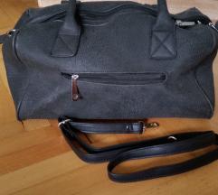 sivo črna torbica z vzorcem