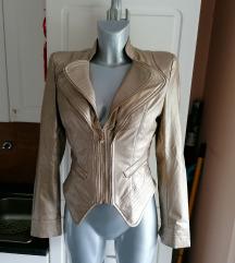 Zlata usnjena jakna