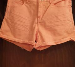 Jeans marelične kratke hlače