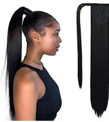 Clip on čop pravi lasje 55 cm