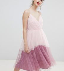 ASOS DESIGN tulle pink obleka