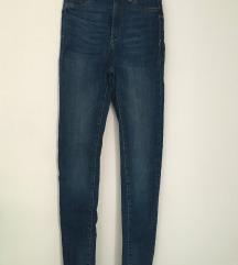 Jeans hlače, visok pas 34