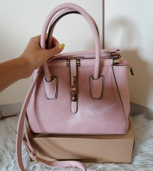 Roza torbica umetno usnje - PTT vključen