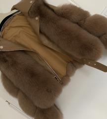 Znizano!zimska jakna s pravim krznom in usnjem