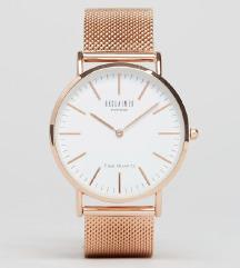 classic mesh strap watch in rose gold-NOVA!
