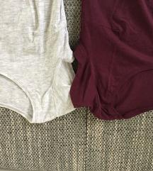 Dve nosecniski majici s kratkimi rokavi H&M