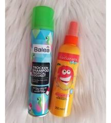 Balea suhi šampon + sprej za lase