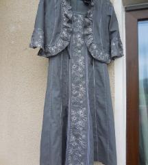 Nova bombažna vezena obleka z jopico