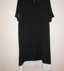 Obleka črna z belim robom