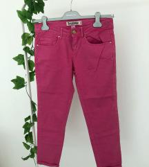 Roza jeans hlače